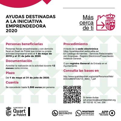 Ayudas en Quart de Poblet  destinadas al Fomento del Autoempleo